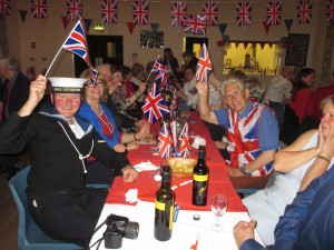 Entering into the spirit of the 40s at Walton Village Hall
