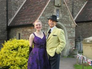 Paul and I at Longhope Church!
