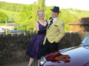Paul and I dressed for the 50s!