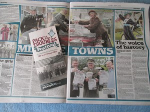 Pack Up Your Troubles Makes the Paper!