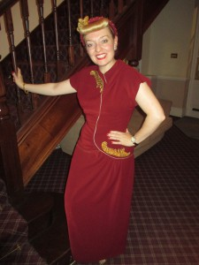 Me in My 1940s Evening Gown!