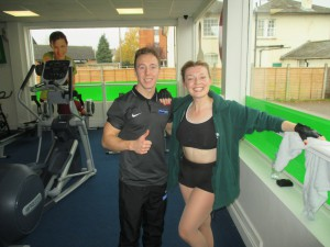 Me With My Trainer Elliot!