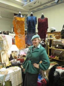 Shopping at Hammersmith Vintage Fashion Fair!