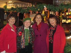Betty, Lynda, Chris and I at the Five Bells!