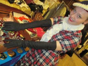 Fiona Harrison Shopping for Gloves