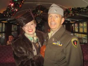 Fiona Harrison and Paul Marsden in 1940s Costume