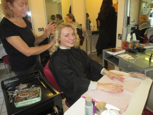 Fiona harrison in the Hair-dressers