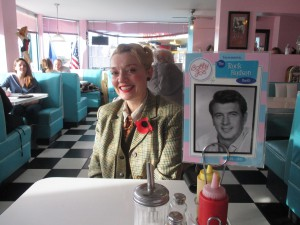 Fiona Harrison having Lunch at Bobby Jos 50s Diner
