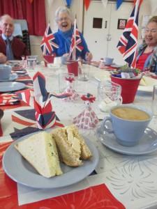 Fiona harrison takes tea in Datchet
