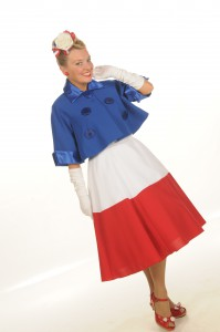 Fiona Harrison Wearing the French Flag