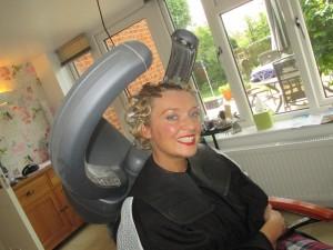Fiona Harrison at Kims Hair Salon Quainton