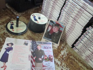 Fiona harrison and her Liberty CDs