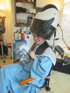 Fiona Harrison at Kim of Quainton's Hair Salon