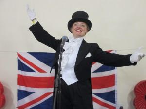 On Stage as Burlington Bertie at Longhope RBL!