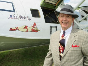 Paul with Miss Pick Up the 1940s Sea Plane!
