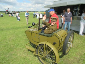 Such Fun - Me in a 1908 Side Car!