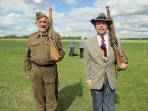 Paul doing Drill with the Home Guard!