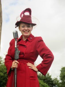 On Stage in My New 1940s Hat and Coat!