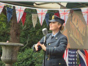 On Stage at Hughenden Manor!