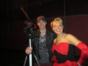 On Set With David!