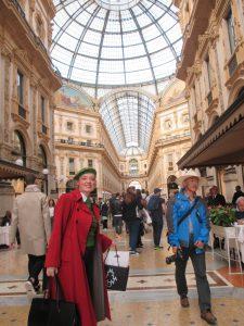 Shopping at the Galleria Vittorio Emanuele!