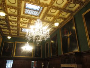 Chandeliers and Beautiful Paintings in the Ballroom!