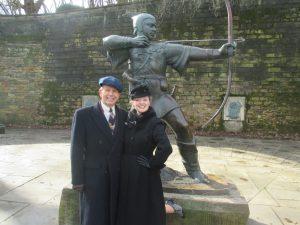 Paul and I with Robin Hood!