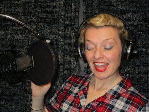 Fiona Harrison in the Recording Studio