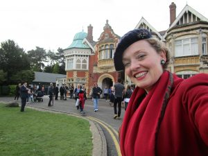 Fiona Harrison at Bletchely Park