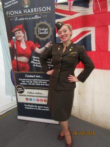 Fiona Harrison as a US WAC