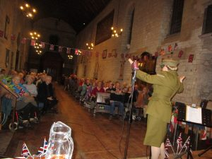 Fiona Harrison on Stage at St Mary's Church Portchester