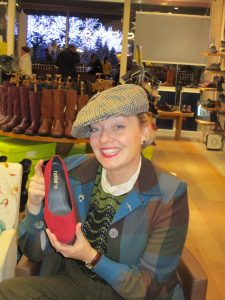 Fiona Harrison buying Hotters Shoes