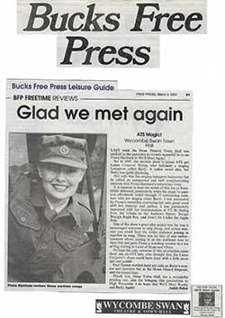 Bucks Free Press Glad We Met Again March 2001