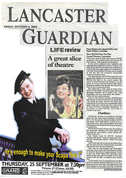 Lancaster Guardian A Great Slice of Theatre Oct 2003