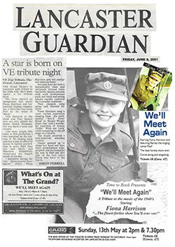 Lancaster Guardian A Star is Born on VE Night June 2001