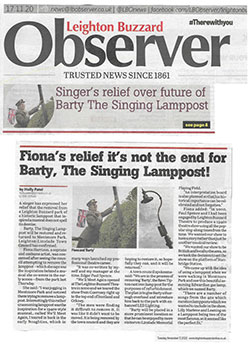 Observer Barty The Singing Lamppost Nov 20