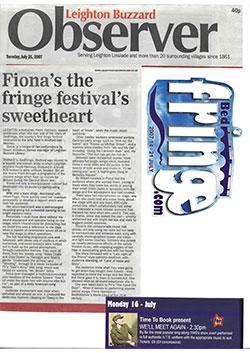 Observer Fringe Festival July 2007