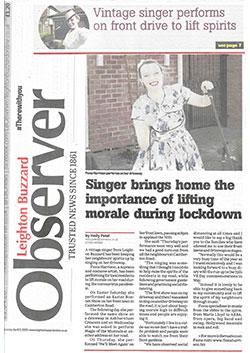Observer Lifting Morale in Lockdown April 20