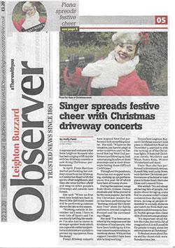 Observer Singer Spreads Festive Cheer Dec 20