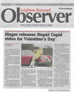 Observer Singer releases Stupid Cupid feb 21