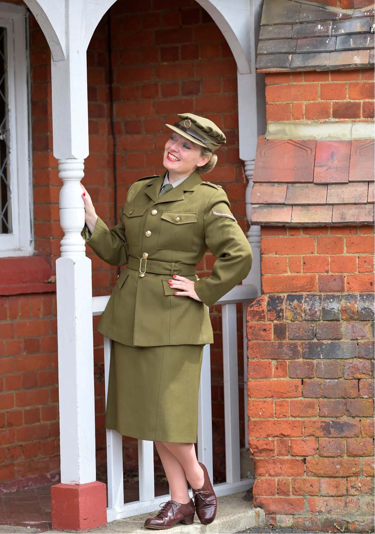Fiona at Bletchley Park